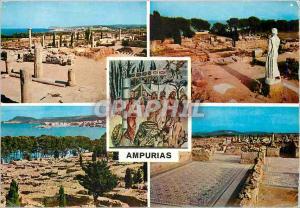 Moderne Karte Ampurias Costa Brava