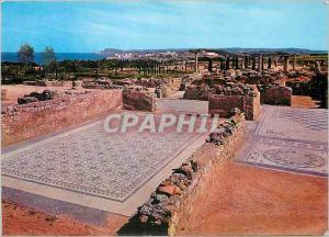 Moderne Karte Costa Brava Ampurias Mozaicos Romanos