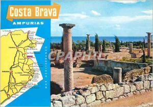 Moderne Karte Costa Brava Ampurias