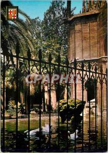 Moderne Karte Barcelona Barcelona Barrio Gotico Cathedrale Detail du Cloitre