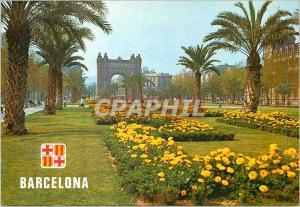 Moderne Karte Barcelona Barcelona Salon de Victor Pradera et Arc de Triomphe