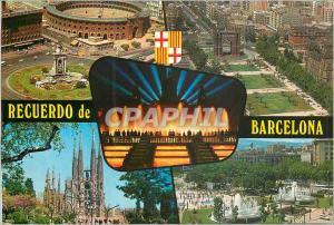 Moderne Karte Barcelona Recuerdo Beautes de la Ville