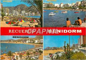 Moderne Karte Recuerdo Benidorm Benidorm (Espana)
