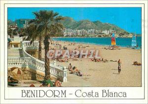 Moderne Karte Benidorm Costa Blanca Playa de Poniente Benidorm (Espana)