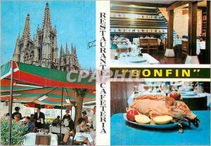 Moderne Karte Restaurante Cafeteria Bonfin Burgos (Espana)