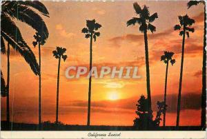 Moderne Karte California Sunset