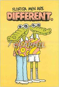 Moderne Karte Florida Men are Different Crocodile