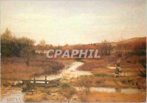 Moderne Karte Lingering Autumn Sir John Everett Millais