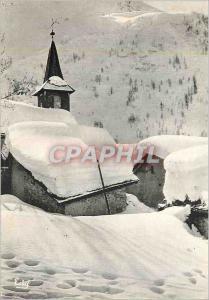 Moderne Karte Images de chez nous en hiver l'hiver au coeur du petit village