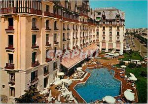 Moderne Karte La plus belle plage d'europe la baule (Loire atlantique) l'hermitage hotel le plus grand hotel d