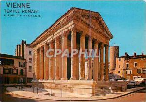 Moderne Karte Vienne temple romain d'auguste et de la ville