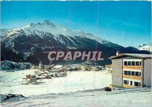 Moderne Karte Aussois (Savoie) Vue du centre Paul Langevin au fond la Norma