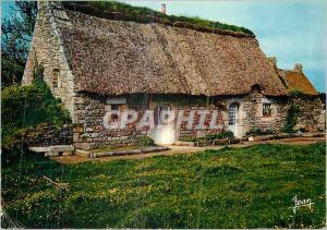Moderne Karte Chaumiere bretonne
