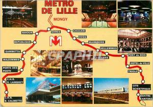 Moderne Karte Le Metro de Lille France Station Rihour