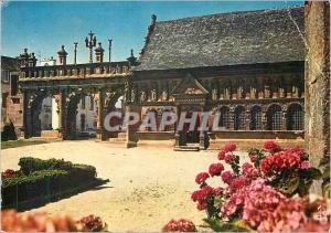 Moderne Karte La Bretagne en couleurs Sizun l'arc de triomphe et la chapelle ossuaire du XVIe s