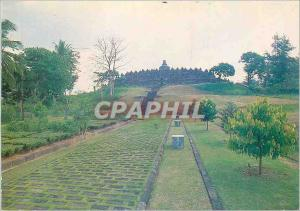 Moderne Karte Bourbudur temple th ad buddhist monument central java Indonesia