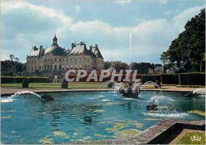 Moderne Karte Chateau de vaux le Vicomte bassin de la courone