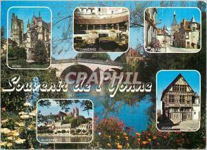 Moderne Karte Souvenir de L'Yonne Sens Tonnerre Avallon Joigny Auxerre
