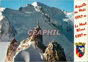 Moderne Karte Chamonix-Mont-Blanc (Hte Savoie) Le Mont-Blanc