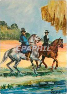 Moderne Karte Cavaliers Chevaux