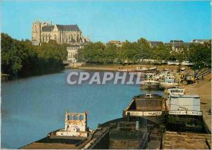 Moderne Karte Nantes (Loire Atlantique) Le Canal Saint Felix en direction de la Cathedrale Saint Pierre