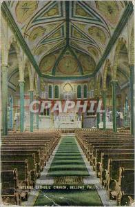Ansichtskarte AK Interior Catholic Church Bellows Falls VT