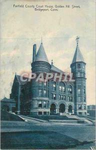 Moderne Karte Bridgeport Conn Fairfield County Court House Golden Hill Street