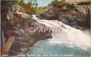 Ansichtskarte AK Salmon Leaping The Falls of Shin Sutherland