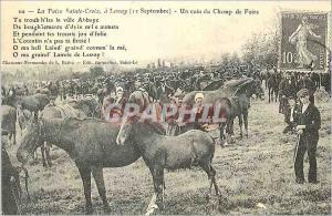 REPRO La Foire Sainte Croix a Lessay (12 Septembre) Un coin du Champ de Foire