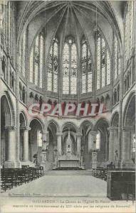 Ansichtskarte AK Gallardon le choeur de l eglise st pierre