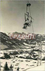 Moderne Karte Sitzlift wasserngrat black buf gstaad