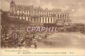 Ansichtskarte AK Biarritz Le Casino de Bellevue au Coucher du Soleil