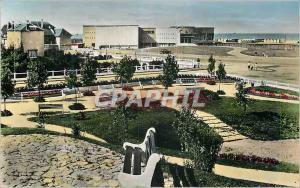 Moderne Karte Ouistreham Riva Bella (Calvados) Le Nouveau Casino et la Plage