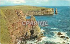 Moderne Karte The rugged caithness coast at john o groats