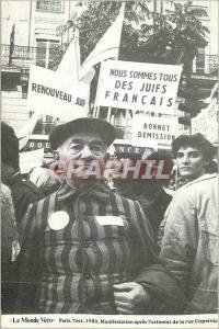 Moderne Karte Le Monde Vecu Paris 7 Oct 1980 Manifestation apres L'attentat de la Rue Copernic