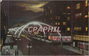 Moderne Karte Third Street Portland By Night