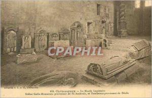 Ansichtskarte AK Chateauroux le Musee Lapidaire Steles Gallo Romaines provenant de St Ambroix et Tombeaux provena