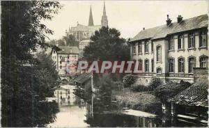 Moderne Karte Chartres (Eure et Loir) vue prise du Pont Neuf