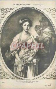 Ansichtskarte AK Musee du Louvre Ecole Francaise Jean Baptiste Greuze (1725 1805) la Cruche Cassee