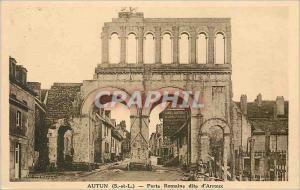 Ansichtskarte AK Autun (S et L) Porte Romaine dite d'Arroux