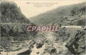Ansichtskarte AK La Vallee de L'Eyrieux (Ardeche) La Route et la Ligne Feree de St Agreve