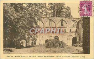 Ansichtskarte AK Foret de Lyons (Eure) Ruines de l'Abbaye de Mortemer Facade de la Salle Capitulaire (1205)