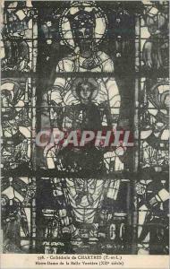 Ansichtskarte AK Cathedrale de Chartres (E et L) Notre Dame de la Balle Verriere (XIIe Siecle)