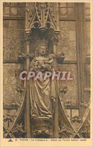 Ansichtskarte AK Thann la Cathedrale Detail du Portail Lateral Ouest