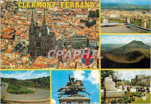 Moderne Karte Clermont Ferrand (Puy de Dome) La Cathedrale La Pierre Carree Le Puy de Dome charade Vercingetor