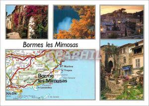 Moderne Karte Bormes les Mimosas (Var)