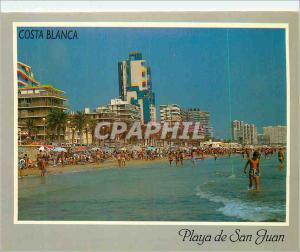 Moderne Karte Costa Blanca Playa de San Juan