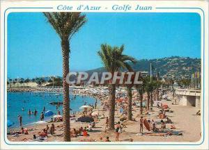 Moderne Karte Cote d Azur Golfe Juan AM Les plages du nouveau port au fond le theatre de la mer