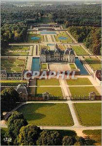 Moderne Karte Chateau de Vaux Le Vicomte Acces Nord et vue generale du Domaine
