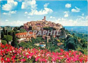 Moderne Karte Saint Paul Cote d Azur French Riviera Vue generale du vieux village